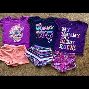 6 pc bundle of The Children's Place. T's and short